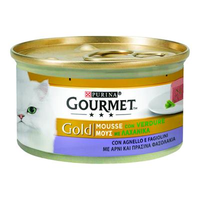 GOURMET GOLD MOUSSE CON AGNELLO E FAGIOLI GR.85