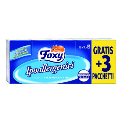 FOXY FAZZOLETTI 15X9 IPOALLERGENICO               COD.404/15