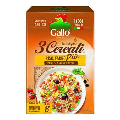 GALLO RISO 3 CEREALI GR.400