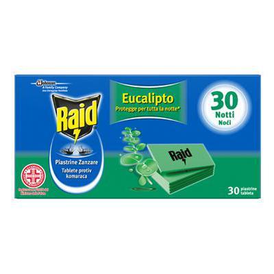 RAID PIASTRINE ANTIZANZARE X 30 EUCALIPTO