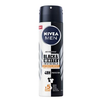 NIVEA DEO SPRAY FOR MEN BLACK&WHITE ML.150 ULTIMATE IMPACT