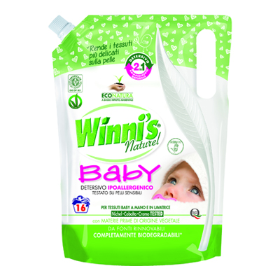 WINNI'S DETERSIVO LAVATRICE ECORICARICA 2 IN 1    BABY ML.80